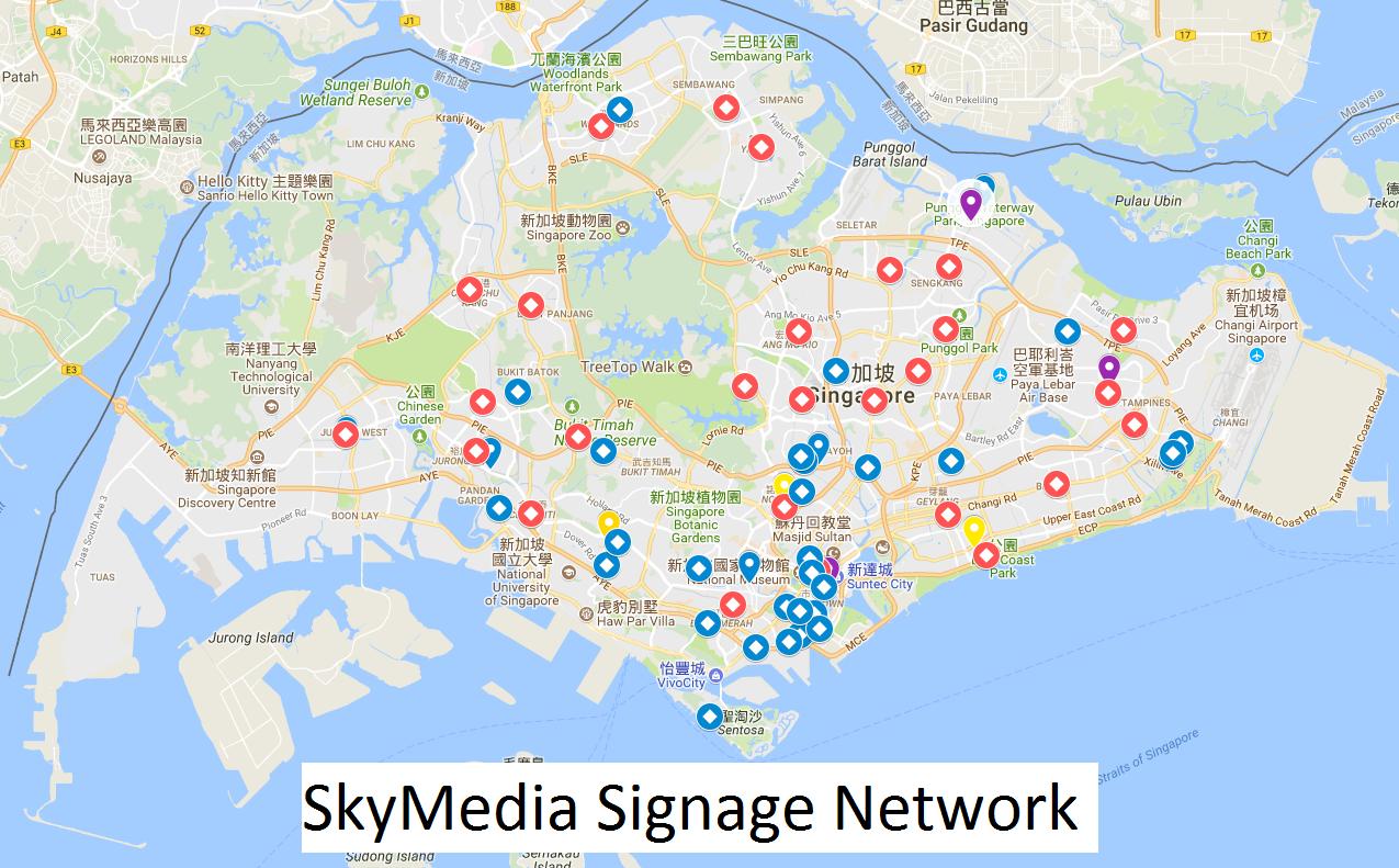 Skymedia signage network